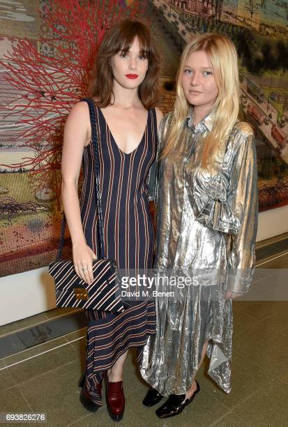 Sai Bennett and Sophie Kennedy Clark attend Mulberry's Special Private View of Grayson Perry's 'The Most Popular Art Exhibition Ever' at The...