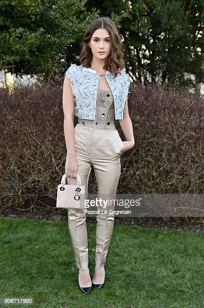 Sai Bennett attends the Christian Dior Spring Summer 2016 show as part of Paris Fashion Week on January 25 2016 in Paris France