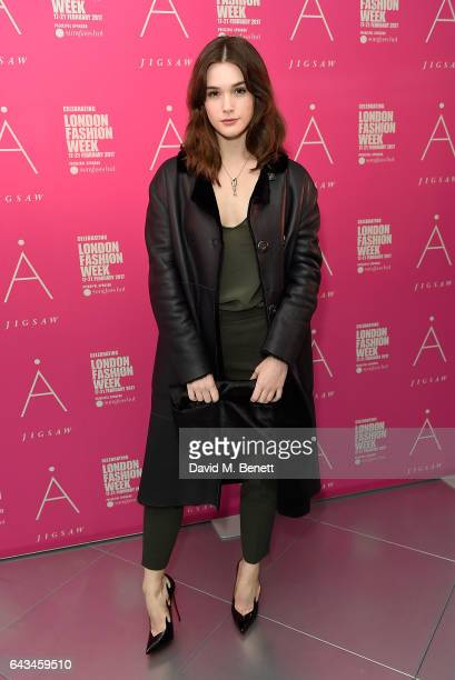 Sai Bennett attends the Jigsaw London Fashion Week show on February 21 2017 in London England