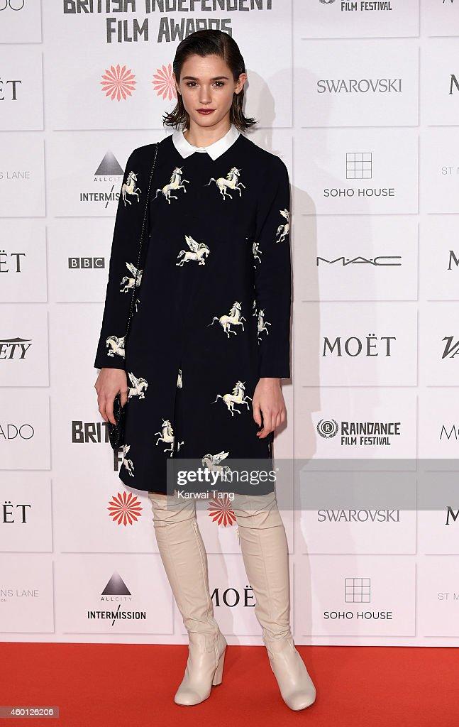 Sai Bennett attends the Moet British Independent Film Awards at Old Billingsgate Market on December 7, 2014 in London, England.