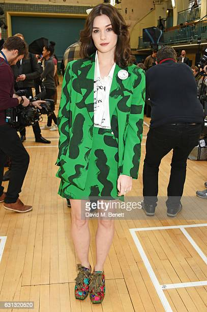 Sai Bennett attends the Vivienne Westwood show during London Fashion Week Men's January 2017 collections at Seymour Leisure Centre on January 9 2017...