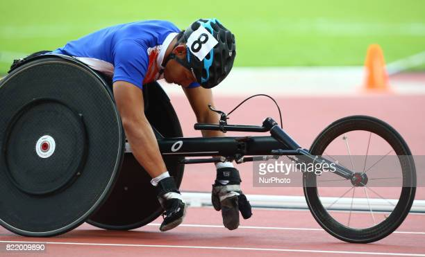 Saichon Konjen of Thailand compete Men's 800m T54 Final during World Para Athletics Championships at London Stadium in London on July 21 2017