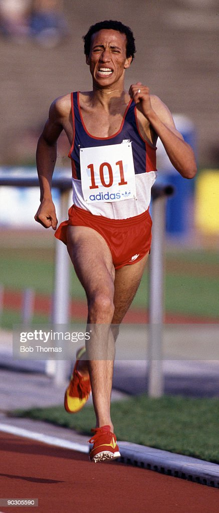 Said Aouita of Morocco running at the FBK Games held in Hengelo Holland July 1984