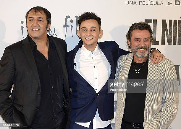 Said Chatiby and Ian McShane attends the premiere of 'El Nino' at Kinepolis Cinema on August 28 2014 in Madrid Spain
