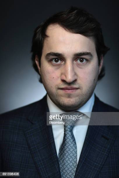 Said Gutseriev general director of Forteinvest Zao poses for a photograph during the St Petersburg International Economic Forum at the Expoforum in...