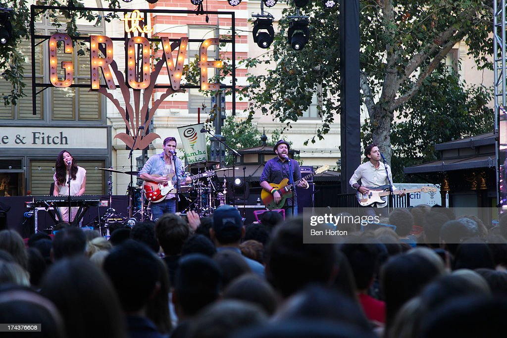 Said the Whale performs at the 2013 Grove summer concert series at The Grove on July 24, 2013 in Los Angeles, California.