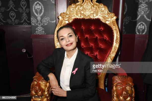 Saida Jawad attends the 'Souffle de Violette' Auction Party As part of 'Octobre Rose' Hosted by Ereel at Fidele Club on October 16 2017 in Paris...
