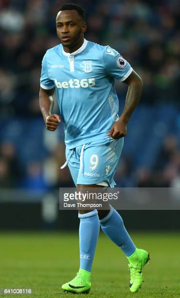 Saido Berahino of Stoke City during the Premier League match between West Bromwich Albion and Stoke City at The Hawthorns on February 4 2017 in West...
