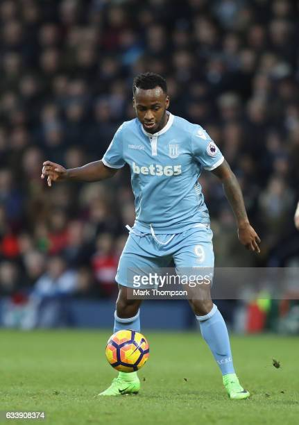 Saido Berahino of Stoke City in action during the Premier League match between West Bromwich Albion and Stoke City at The Hawthorns on February 4...