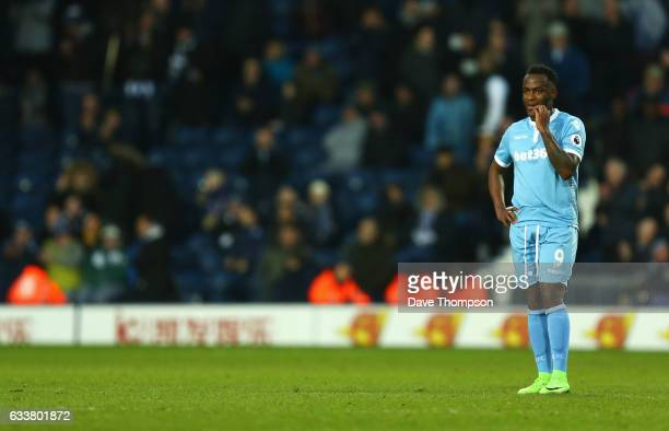 Saido Berahino of Stoke City looks on during the Premier League match between West Bromwich Albion and Stoke City at The Hawthorns on February 4 2017...