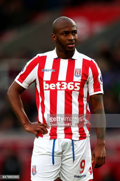 Saido Berahino of Stoke City looks on during the Premier League match between Stoke City and Middlesbrough at Bet365 Stadium on March 4 2017 in Stoke...