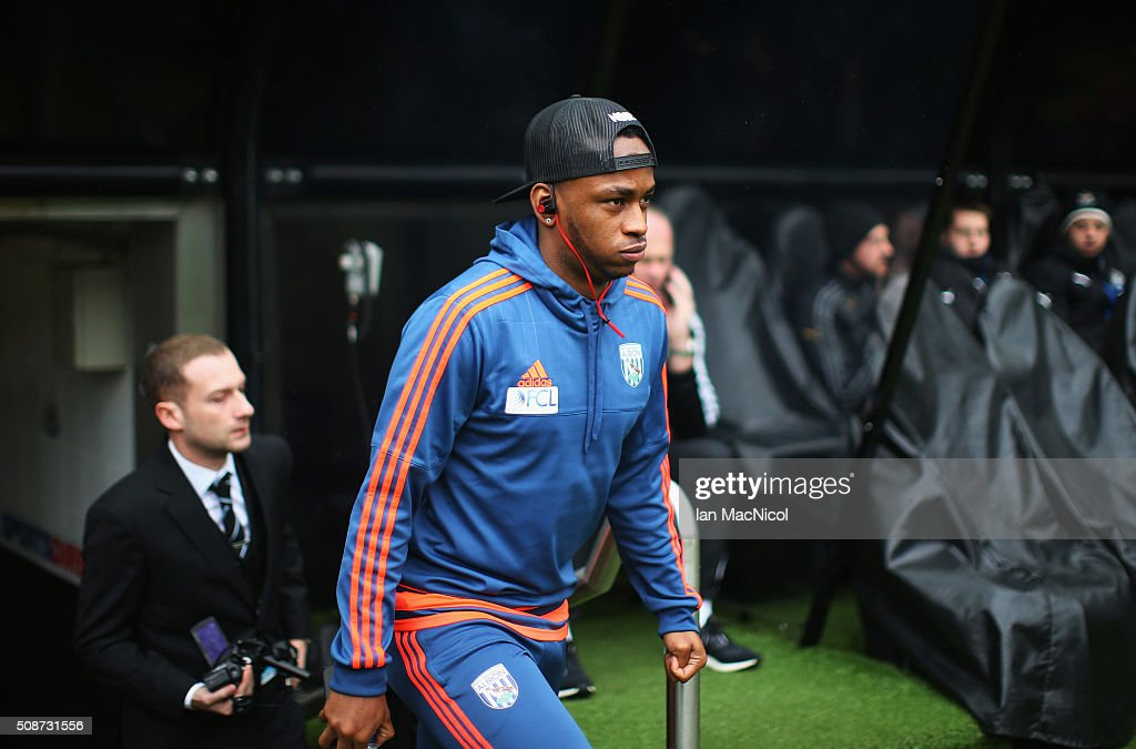 <a gi-track='captionPersonalityLinkClicked' href=/galleries/search?phrase=Saido+Berahino&family=editorial&specificpeople=6216861 ng-click='$event.stopPropagation()'>Saido Berahino</a> of West Bromwich Albion is seen on arrival at the stadium prior to the Barclays Premier League match between Newcastle United and West Bromwich Albion at St James' Park on February 6, 2016 in Newcastle upon Tyne, England.