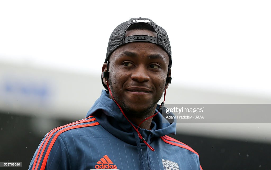 <a gi-track='captionPersonalityLinkClicked' href=/galleries/search?phrase=Saido+Berahino&family=editorial&specificpeople=6216861 ng-click='$event.stopPropagation()'>Saido Berahino</a> of West Bromwich Albion looks at the pitch prior to the Barclays Premier League match between Newcastle United and West Bromwich Albion at St. James Park on February 06, 2016 in Newcastle-upon-Tyne, England.