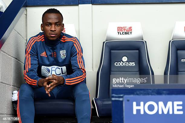 Saido Berahino of West Bromwich Albion looks on from the bench during the Barclays Premier League match between West Bromwich Albion and Southampton...