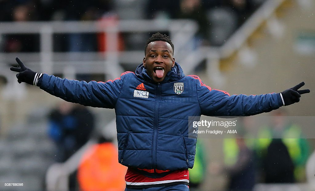 <a gi-track='captionPersonalityLinkClicked' href=/galleries/search?phrase=Saido+Berahino&family=editorial&specificpeople=6216861 ng-click='$event.stopPropagation()'>Saido Berahino</a> of West Bromwich Albion poses prior to the Barclays Premier League match between Newcastle United and West Bromwich Albion at St. James Park on February 06, 2016 in Newcastle-upon-Tyne, England.