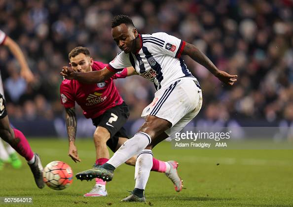 Saido Berahino of West Bromwich Albion scores a goal to make it 21 during the Emirates FA Cup match between West Bromwich Albion and Peterborough...