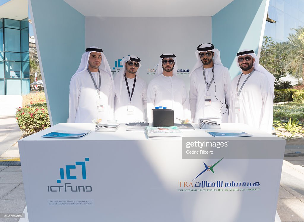 Saif Al Aleeli,(center) during The UAE AI & Robotics Award for Good at Dubai Internet City on February 6, 2016 in Dubai, United Arab Emirates where the winners of the USD 1 million international competition and the AED 1 million national competition will be announced.