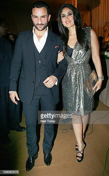 Saif Ali Khan and Kareena Kapoor at Day II of the HDIL Couture fashion week in Mumbai on October 7 2010