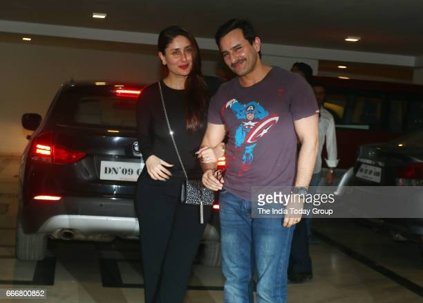 Saif Ali Khan and Kareena Kapoor at Karan Johar's party in Mumbai