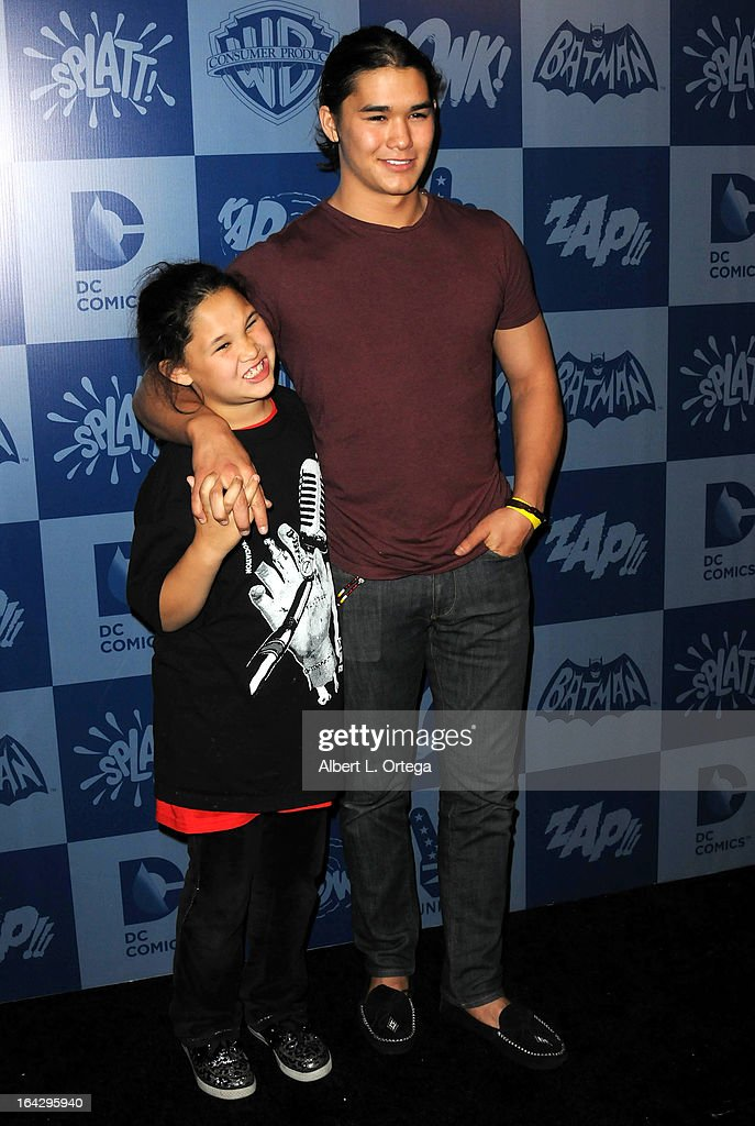 Saige Stewartand actor BooBoo Stewart attend the Warner Bros. Consumer Products And Junk Food Celebrate The Launch Of The Batman Classic TV Series Licensing Program held at Meltdown Comics and Collectibles on March 21, 2013 in Hollywood, California.