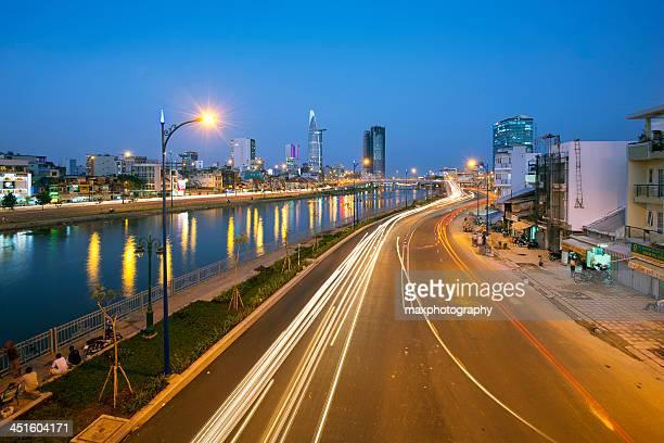 Saigon city by night