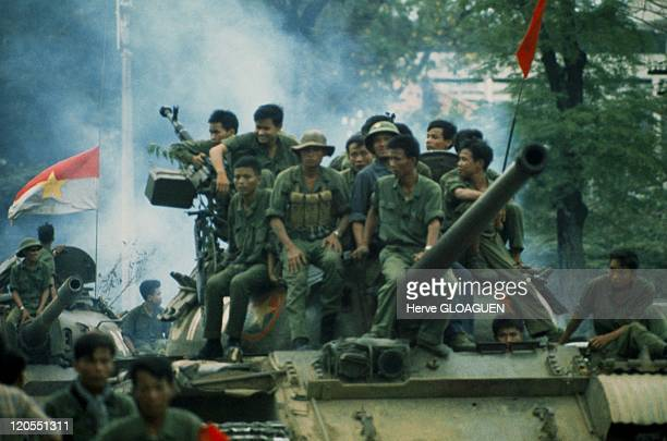 Saigon in Vietnam on April 30 1975 North Vietnamese tanks entered the city on April 301975