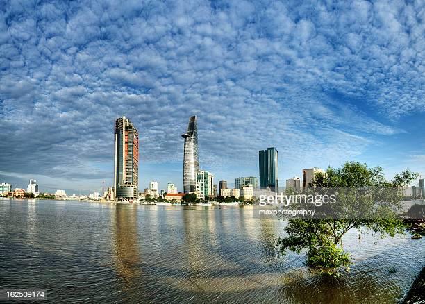Saigon river panorama