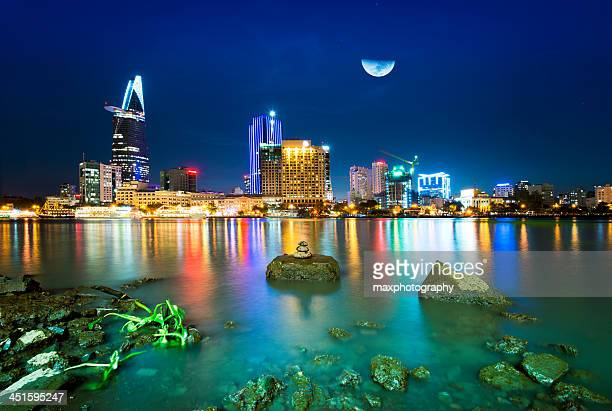 Saigon sky on moonlit nights