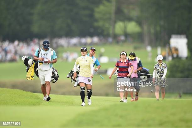 Saiki Fujita of Japan during the final round of the CAT Ladies Golf Tournament HAKONE JAPAN 2017 at the Daihakone Country Club on August 20 2017 in...