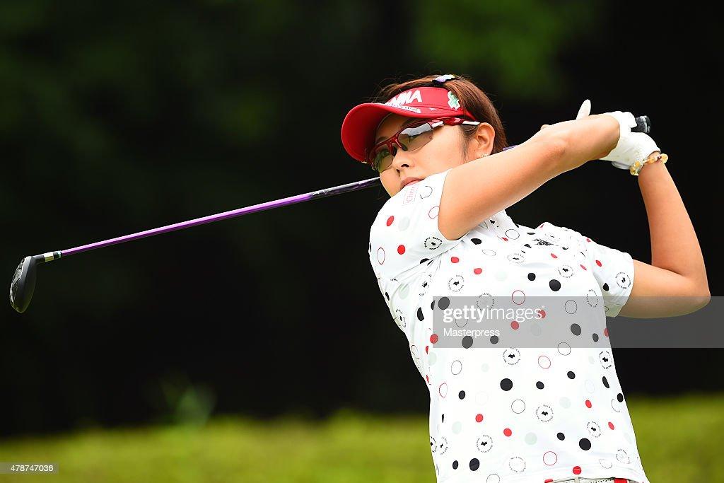 Saiki Japan  city photos gallery : Saiki Fujita of Japan hits her tee shot on the 2nd hole during the ...