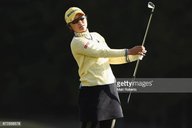 Saiki Fujita of Japan hits her tee shot on the 2nd hole during the first round of the Itoen Ladies Golf Tournament 2017 at the Great Island Club on...