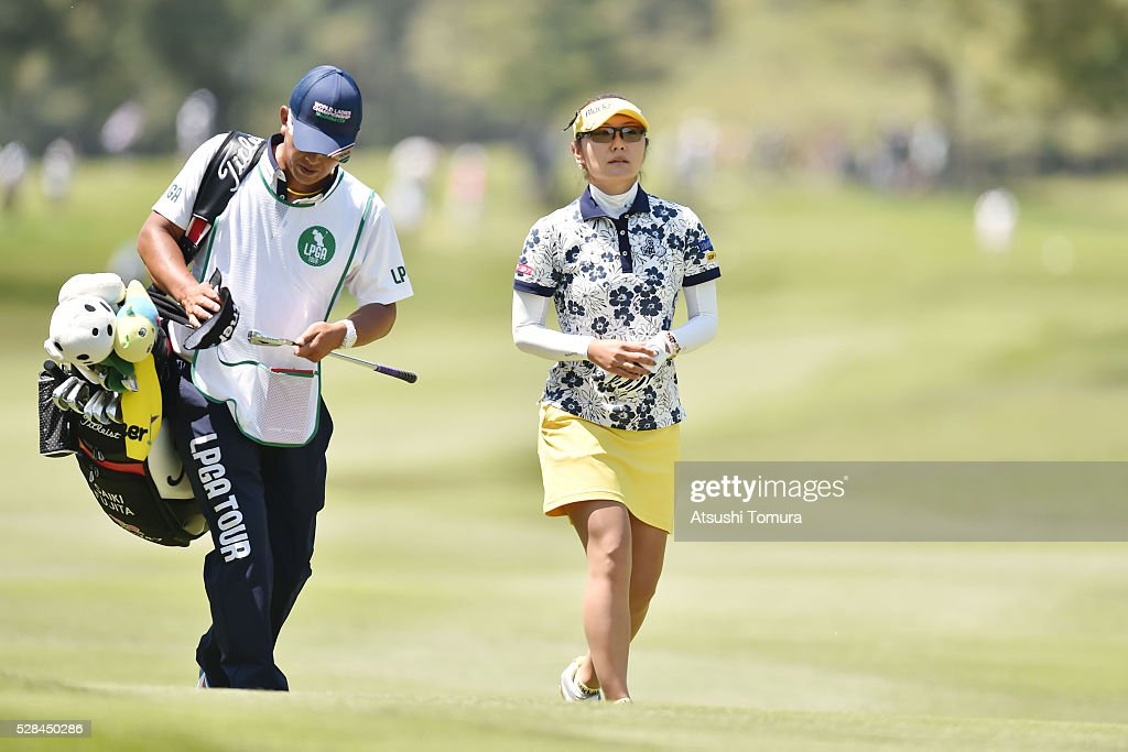 <a gi-track='captionPersonalityLinkClicked' href=/galleries/search?phrase=Saiki+Fujita&family=editorial&specificpeople=7535141 ng-click='$event.stopPropagation()'>Saiki Fujita</a> of Japan looks on during the first round of the World Ladies Championship Salonpas Cup at the Ibaraki Golf Club on May 5, 2016 in Tsukubamirai, Japan.