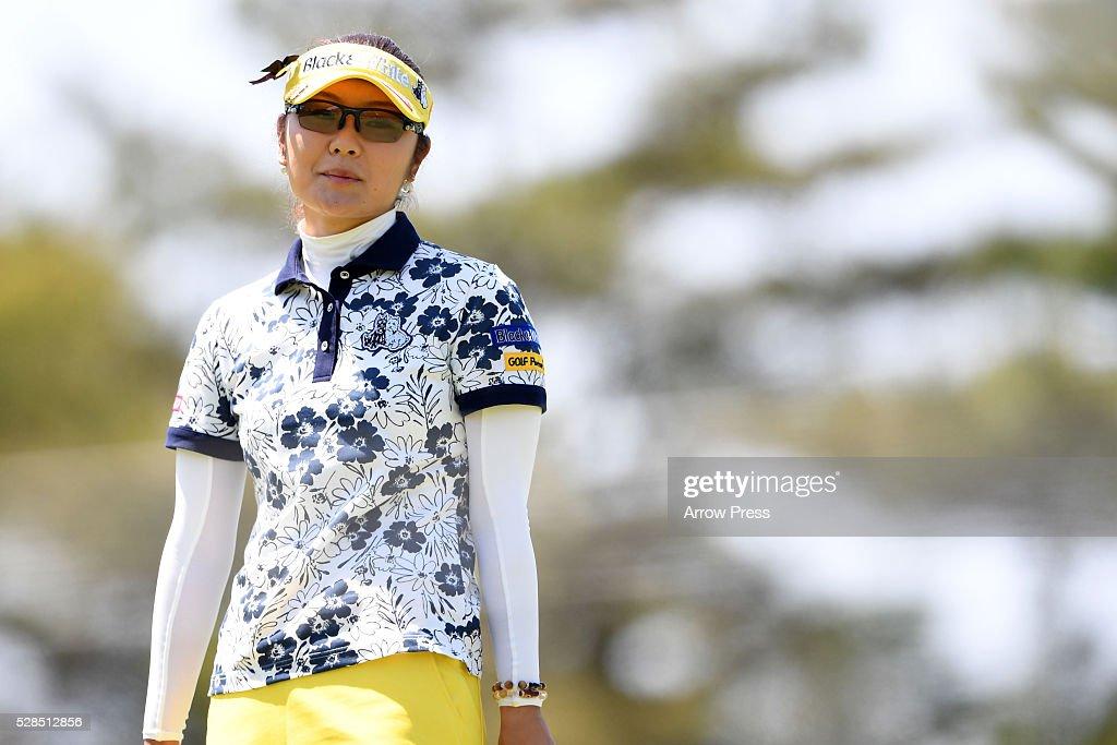 Saiki Fujita of Japan looks on during the first round of the World Ladies Championship Salonpas Cup at the Ibaraki Golf Club on May 5, 2016 in Tsukubamirai, Japan.