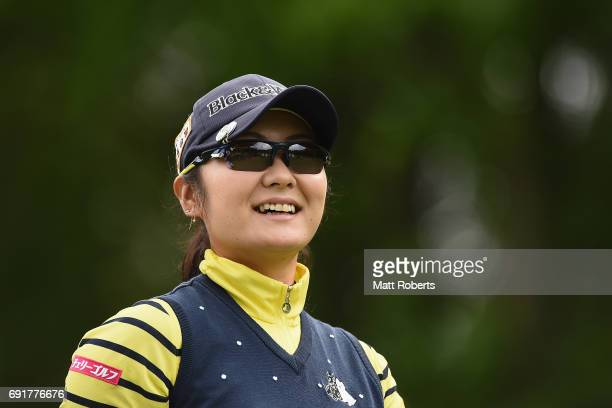 Saiki Fujita of Japan looks on during the first round of the Yonex Ladies Golf Tournament 2016 at the Yonex Country Club on June 3 2017 in Nagaoka...