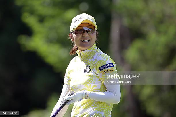 Saiki Fujita of Japan on the third hole during the second round of the Nichirei Ladies at the Sodegaura Country Club Shinsode Course on June 18 2016...