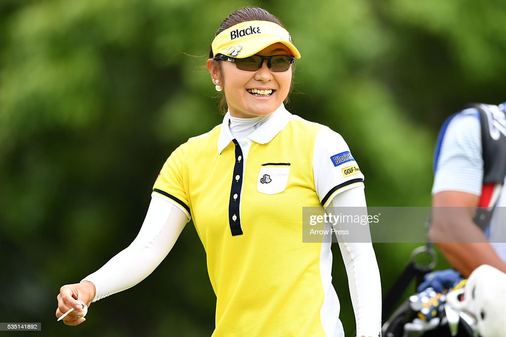 <a gi-track='captionPersonalityLinkClicked' href=/galleries/search?phrase=Saiki+Fujita&family=editorial&specificpeople=7535141 ng-click='$event.stopPropagation()'>Saiki Fujita</a> of Japan smiles during the Final round of the Resorttrust Ladies at the Grandee Naruto Golf Club XIV on May 29, 2016 in Naruto, Japan.