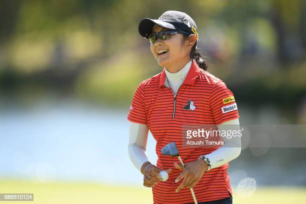Saiki Fujita of Japan smiles during the final round of the Resorttrust Ladies at the Oakmont Golf Club on May 28 2017 in Yamazoe Japan