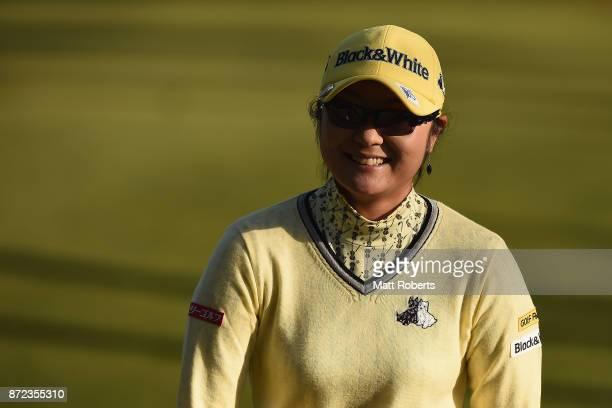 Saiki Fujita of Japan smiles during the first round of the Itoen Ladies Golf Tournament 2017 at the Great Island Club on November 10 2017 in Chonan...