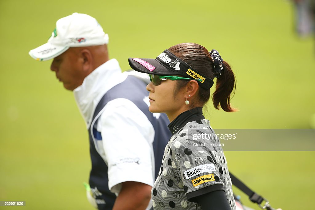 <a gi-track='captionPersonalityLinkClicked' href=/galleries/search?phrase=Saiki+Fujita&family=editorial&specificpeople=7535141 ng-click='$event.stopPropagation()'>Saiki Fujita</a>of Japan looks on during the first round of the CyberAgent Ladies Golf Tournament at the Grand Fields Country Club on April 29, 2016 in Mishima, Japan.