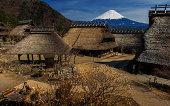 Saiko Iyashino-Sato Nenba with Mt Fuji