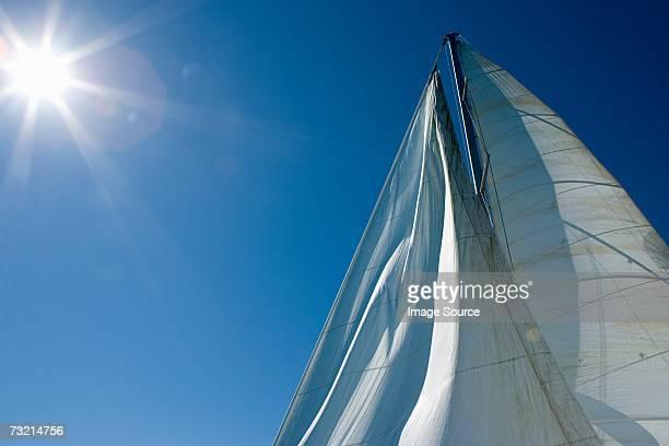 Segeln und Schiffsmast