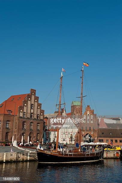 Sail boat at Wismar harbor