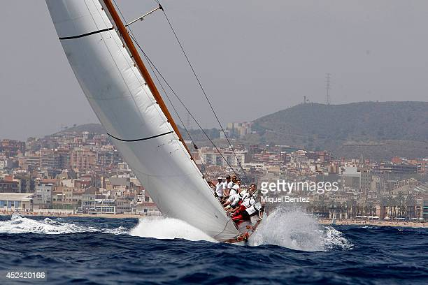 Sailboat 12mR World Championship participates during the 'VII Puig Vela Classica' 'VII Classic Sailing' and Puig 12mR World Championship at the Real...