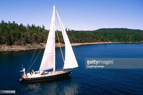 sailboat aerial sky copy space