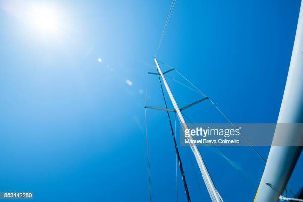 sailboat against blue sky