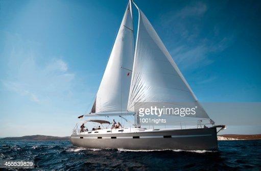 Sailboat at sea on a sunny day