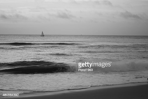 Sailboat at Virginia Beach : Stock Photo