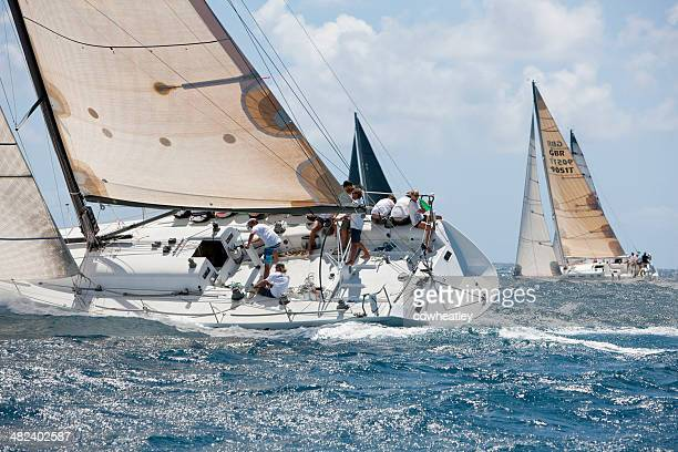 "Segelschiff ""Falcon"" racing 2014 in St. Thomas International Regatta"