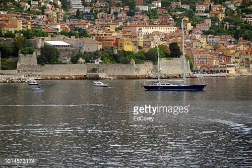 Sailboat in the Villefranche Harbour : Foto stock