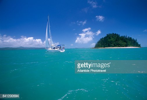 Sailboat in Whitsunday Archipelago